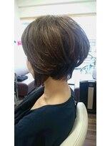 ヴィオレッタ ヘアアンドスペース(VIOLETTA hair&space)グラデーションボブ×ブラウン×ふんわりパーマ[塚口美容室]