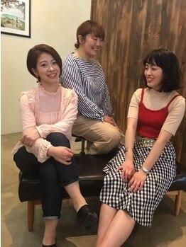 ココロ(kokoro)の写真/実力派スタイリストの多いサロン☆女性ならではの視点からしっかりサポート♪