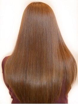 ボノスヘアー(BONOS hair)の写真/シルクの様に柔らかく、自然なストレート☆Aujuaトリートメントとの組み合わせで、極上の仕上がりを実現★