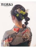 ワークス ヘアデザイン(WORKS HAIR DESIGN)卒業式 着物 袴ヘアセット