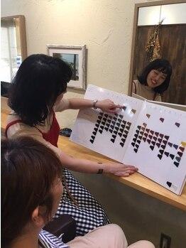 ココロ(kokoro)の写真/髪に負担をなるべくかけず、ツヤツヤの仕上がりと評判の良いグレイカラー☆