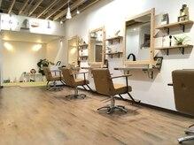 アモヘアー 城山店(amo hair)の雰囲気(木の香り木の温もりのある店内。)