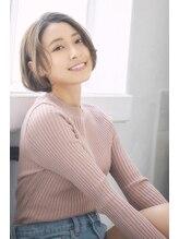 バーチュー(virtue)☆L☆大人かわいい前下がり丸みショートボブデザインカラー