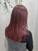 テトヘアー(teto hair)レッドカラー ワインレッド 赤髪 韓国ヘア グラデーション