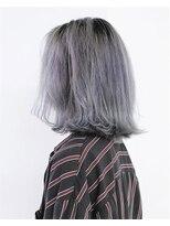 【Liliy 大岡】外国人風特殊カラー☆ホワイトパープル☆