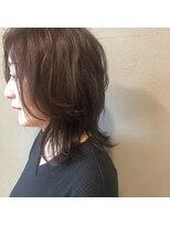 アルマヘアー(Alma hair by murasaki)大人セミディで抜け感ヘア