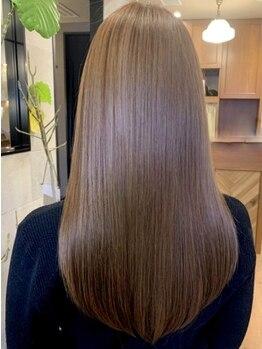 ユーレルム ギンザ(U-REALM ginza)の写真/新髪質改善☆まるで地毛が元々ストレートだった様な、今まで体感した事の無い『ノンダメージストレート』