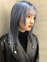 リッチ(RITZY)【RITZY】ネイビーシルバー☆ブリーチカラー☆ブルーヘア