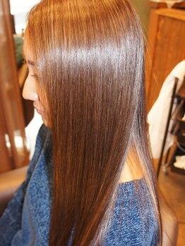 """ミュウズ(MIEUXS)の写真/徹底的な""""髪質改善""""で憧れのサラ艶髪に♪今までの縮毛矯正に満足できなかった方ぜひ一度お試しください―。"""