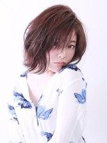 ブラン(Blanc)【Blanc hair】セミウェット外ハネミディ アンニュイ×キュート