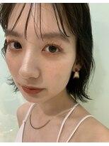 アピッシュ オモテサンドウ(apish omotesando)シースルー前髪パーマオレンジメイク☆mayu