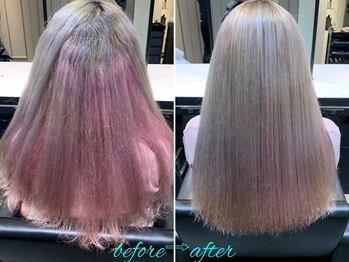 エノア 柏(ENORE)の写真/【ENOREオリジナル弱酸性縮毛矯正】髪質を見極め、「なりたい髪」と「悩み」にフォーカスして、髪質改善!!