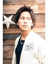 ミンクス ハラジュク(MINX harajuku)MEN'S HAIR ツーブロック ニュアンスパーマ アップバング