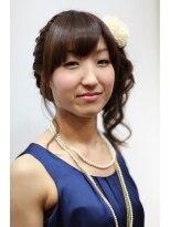 オッヂヘア(oggi hair)ふんわりガーリーアップ