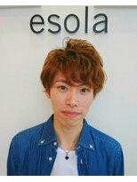 エソラ(esola)★メンズショートのニュアンスパーマ【esola】