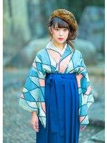 オゥルージュミュゼ(Aurouge)【aurouge musee今関茉莉】お洒落な着物 袴ヘアはオゥルージュで