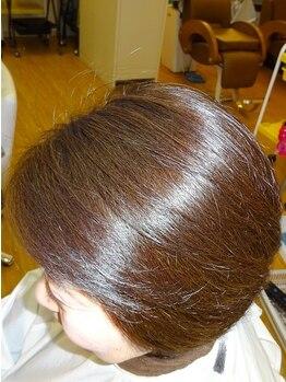 ラピスるりの写真/特許取得の特別な薬剤を使用。カラー後、スタイリング剤を使わず実現するツヤ髪の《エンジェルリング》♪
