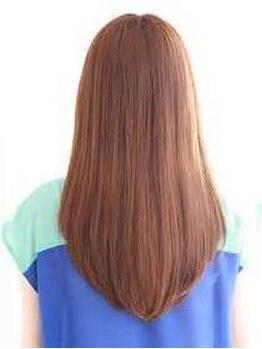 ヘアブティックボズワン 溝の口店(HairBoutiqueBOZ 1)の写真/【溝の口駅徒歩3分】縮毛矯正+スタイリストカット+フルボ酸Tr付き ¥8500☆毛先までサラサラの手触りに♪