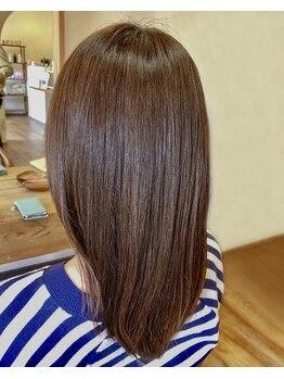 髪質改善ヘアエステサロン ルアナ(Luana)の写真/カラーとトリートメントの同時進行♪カラーに栄養分を補給するので、回数を重ねるごとに潤い艶髪に♪