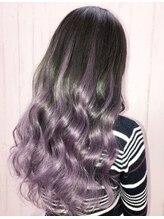 エクステ専門店あるじゃんすー 名古屋店silver purple#エクステ #名古屋 #グラデーションカラー