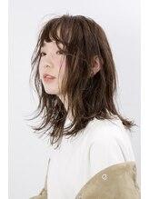ボタンヘアー 日吉(BoTaN HAIR)セミドライな質感のルーズロブ