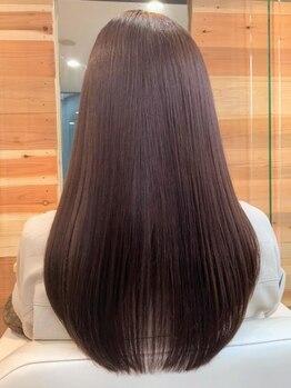 ヘアー ジップ(hair Zip)の写真/独自の配合で大切な髪を傷ませない、ダメージレスな縮毛矯正が叶う♪自分史上最高の極上のストレートへ★
