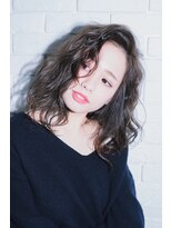 【miel hair bijoux】かき上げ前髪のアンニュイミディ☆★
