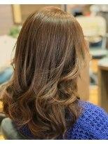 サロンズヘアー 中納言店(SALONS HAIR)ゆるふわブラウンカラー