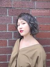 ヘアーワークス ジジ(HAIR works JIJI)マッシュベースな透け感グレー