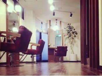 ヘアーアンドメイク ルチア(Hair&Make LUCIA)の写真/≪国立☆3分≫セット面5席の隠れ家のような小さなサロン★大型店が苦手な人も、ゆったりした時間を…。