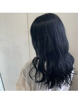 ヘアーメイク プリュム(Hair make Plume)暗めのネービーブルー