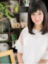 """*+COVER HAIR+*…黒髪&ベビーバングの""""重軽""""セミディc"""