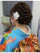ハナココ 水戸店(hana Coco)出張ヘアセット!ゆるフワ下めアップ♪成人式 卒業式 前撮り水戸