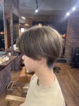 アクロス ヘアデザイン 五反田店(across hairdesign)オシャレツーブロックメンズショート