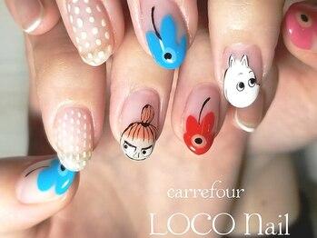 カルフール ロコ ネイル 草加西口店(Carrefour LOCO nail)/キャラクターアートも可能です