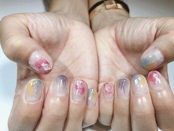 パルネイル(PAL nail)/水彩×ニュアンス