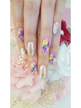 トリーシア(Nail & Beauty Salon Tri-xia)/フラワーネイル