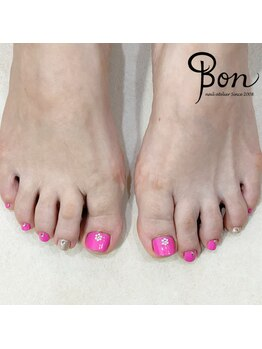 ネイルアトリエ ボン(nail atelier bon)/フットマニキュアネイル
