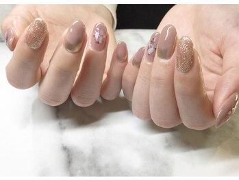 ネイルサロンブラン(nail salon BLANC)/ミラーとニュアンスネイル