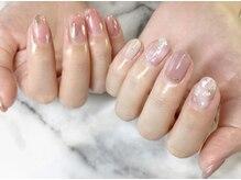 ネイルサロンブラン(nail salon BLANC)/左右異なるアシンメトリーネイル