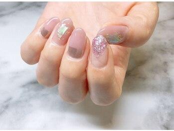 ネイルサロンブラン(nail salon BLANC)/シェルとミラーニュアンスネイル