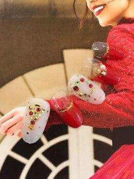 プラスネイルアンドアイラッシュ ジャム(JAM Produce by JAM IPPUKU)/★新作★クリスマスネイル2