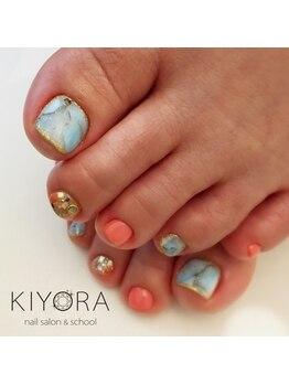 ネイルサロンキヨラ(KIYORA)/ターコイズ石ネイル