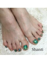 シャンティ ネイルサロン(Shanti nail salon)/キラキラ☆夏フットネイル
