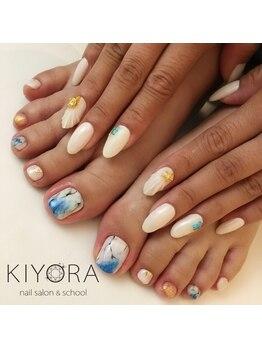 ネイルサロンキヨラ(KIYORA)/手も足も夏一色