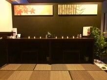 京の寝床の雰囲気(京都をテーマとした和の空間。アイロン、コテ完備しております。)