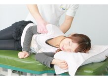 側臥位での緩和操作