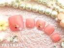 桜色ツヤ感フットネイル ¥5389