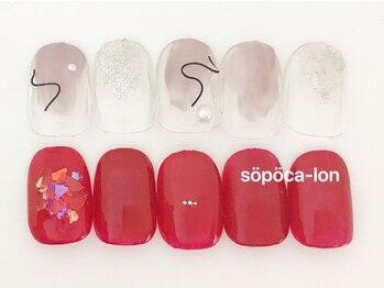 ソポカロン 富小路店(sopoca lon)/Aコース4400円 ニュアンスネイル