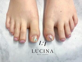 ネイルスタジオ ルキナ(LUCINA)/W-936 フットピンク氷ネイル